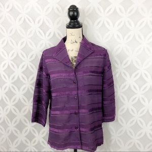 French Laundry Royal Purple Button Down Blouse NWT